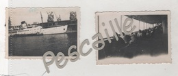LOT DE 2 PHOTOGRAPHIES ORIGINALES NOTEES ILE DE BEAUTE AOUT 1937 - PAQUEBOT - 6.7 X 4.2 Cm - Bateaux