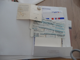 Concorde Archive Environs 30 Documents 2001 Billet Pin's Menus Dossiers Com Air France British Airways Vol 2001 AF002 - Altri