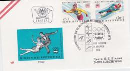 Austria 1976 FDC Olympic Games Innsbruck (T12-9) - Winter 1976: Innsbruck