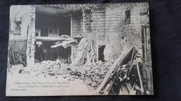 CPA 60 Creil - Une Maison Rue De La République Après La Chute D'une Torpille Dans La Cour - Creil