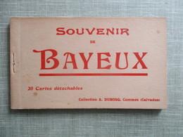 CARNET DE 20 CPA 14 SOUVENIR DE BAYEUX - Bayeux