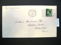 RARE KING EDWARD VIII DEFINITIVE FIRST DAY COVER 1st SEPTEMBER 1936 ( 0044 ) - 1902-1951 (Kings)