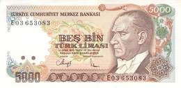 5000 Lira Türkei 1970 UNC (I) - Turquie