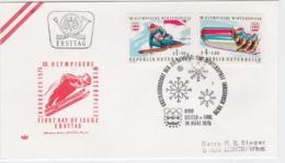 Austria FDC 1976 Olympic Games Innsbruck (G99-36) - Winter 1976: Innsbruck
