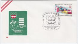Austria Cover 1976 Olympic Games Innsbruck  - Innsbruck Neuarzl (G99-36) - Winter 1976: Innsbruck