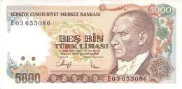 5000 Lira Türkei 1970 UNC (I) - Türkei