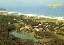 ANGLET  Le Lac De Chiberte Et Le Golf Dans Le Fond La Chambre D'Amour Vue Aérienne Colorisée RV - Anglet