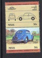 Volkswagen Beetle Coccinelle  -  1947  -  2v Se-tenant MNH  -   Nevis - Voitures
