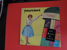 Vinyles 45 T  Panorama   Une Rose  Rouge Roselise  Orchestre Direction James Award   Avec Les Scarlet - Musicals