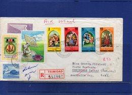 ##(DAN197)-Trinidad & Tobago 1972-Registered Air Mail Cover To  Christmas Island, Retour To Sender To Firenze-Italy - Venezuela