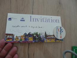 Football Coupe Du Monde 1998 France Montpellier Invitation Finale Des Quartiers + Badge Bonjour 98 - Habillement, Souvenirs & Autres