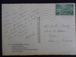 Andorre Français , Carte D Andorre-la-vielle 1954 Pour Toulon - Lettres & Documents