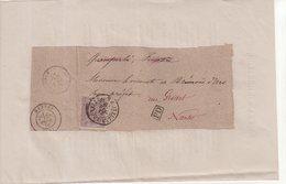BELGIQUE : N° 5 . SEUL SUR GRAND FRAGMENT D'IMPRIME . POUR LA FRANCE . 1870 . ( CATALOGUE COB ) - 1866-1867 Petit Lion (Kleiner Löwe)