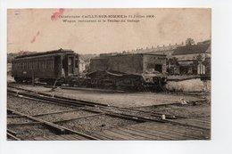 - CPA AILLY-SUR-SOMME (80) - Catastrophe Du 11 Juillet 1906 - Wagon Restaurant Et Le Tender Au Garage - N° 13 - - France
