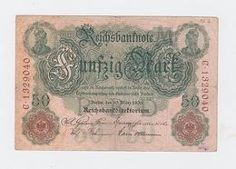 50 Mark Du 10 Mars 1906 Pick 26 - [ 2] 1871-1918 : Impero Tedesco
