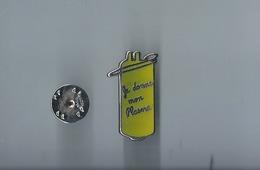 Pins - Je Donne Mon Plasma - Signe -metargent  -rare -  Port 0.90 - Médical
