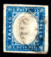 Italia-G-0098 - Emissione 1863 (o) Used - Senza Difetti Occulti. - 1861-78 Vittorio Emanuele II