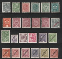 Austria 1916-1918 - Coat Of Arms, Emperor, Famous People - MLH Lot - - Unused Stamps