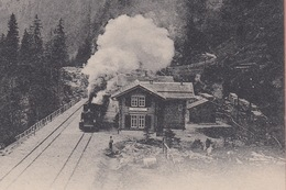 OUDE  POSTKAART ZWITSERLAND - SCHWEIZ -   1900'S - TREIN - ALBULABAHN - STULS - GR Grisons