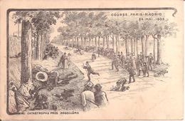 """COURSE """"PARIS-MADRID"""" 24 Mai 1903 - Catastrophe Près De Angouleme - Lithographie De 1903 - Autres"""