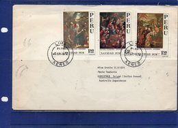 ##(DAN197)-Peru 1972- Cover Franked With Christmas Stamps Sent  To Christmas Island, Retour To Sender To Firenze-Italy - Perù