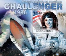 Mozambique 2011  Challenger Tragedy,  Space - Mozambique