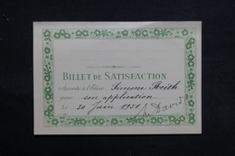 FRANCE - Lot De 6 Billets De Satisfactions Période 1930 / 31 - L 31296 - Diplomas Y Calificaciones Escolares