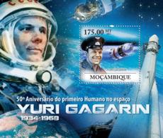 Mozambique 2011  First Human In Space,Yuri Gagarin - Mozambique