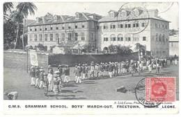 Cpa Afrique , Sierra Leone, C.M.S. Grammar School, Boy's March-Out, Freetown - Sierra Leone