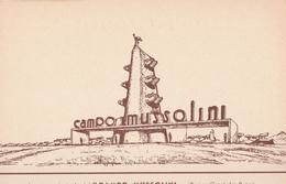 """Cartolina  - Postcard /non Viaggiata -  Not Sent -   Ingresso  """"Campo Mussolini """" - Other Wars"""