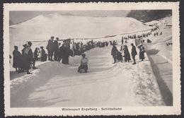 CPA  Suisse, Wintersport, ENGELBERG, Schlittelbahn - OW Obwald