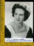 Personaggio Cinema Attore Attrice Teatro Cantante Adriana Lazzarini Autografo - Artisti