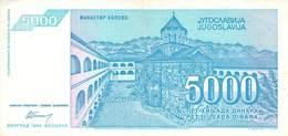 5000 Dinar Jugoslawien 1994 UNC (I) - Jugoslawien