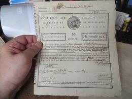 ACTION DE LA CAISSE D'EPARGNE ET DE BIENFAISANCE DU SIEUR LAFARGE - Documents Historiques