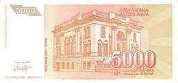 5000 Dinar Jugoslawien 1993 UNC (I) - Jugoslawien