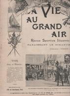 LA VIE AU GRAND AIR 30 09 1900 - AUTOMOBILE AUX MANOEUVRES MILITAIRES - DIRIGEABLE SANTOS DUMONT - TENNIS ETRETAT - 1900 - 1949