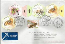 MALAISIE.Abeilles De Malaisie :abeille Géante (Apis Dorsata),Apis Andreniformis,abeille Asiatique,etc. Série Sur Lettre - Abeilles