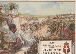 Cartolina  - Postcard /non Viaggiata -  Not Sent -  230° Battaglione Divisione Sabauda - Africa Orientale. - Regiments