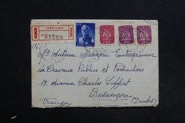 PORTUGAL - Enveloppe En Recommandé De Covilha Pour La France En 1946  , Affranchissement Plaisant - L 31305 - 1910-... République