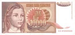 10 000 Dinar Jugoslawien 1992 UNC (I) - Jugoslawien