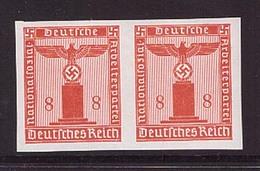 Deutsches Reich D 160 U Postfrisch Waagrechtes Paar Ungezähnt Geprüft (21837) - Varietà
