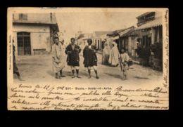 C1319 TUNISIA - TUNIS - SOUK-EL-ARBA ANIMATION INDIGÈNES TUNISIAN FOLKLORE CIRCULÉE 1907? - Tunisia