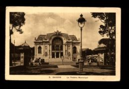 C1334 VIETNAM - SAIGON - LE THÉÂTRE MUNICIPAL \ MUNICIPAL THEATRE - CIRCULATED CIRCULÉE 1913 - Vietnam