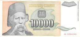 10 000 Dinar Jugoslawien 1993 UNC (I) - Jugoslawien