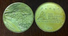 75 PARIS PARC ZOOLOGIQUE LE LOUP MÉDAILLE ARTHUS BERTRAND JETON MEDALS TOKEN COINS 2016 - 2016