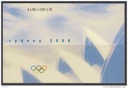 SCHWEIZ Markenheftchen MH 119, Gestempelt, Olympische Sommerspiele Sydney 2000 - Booklets