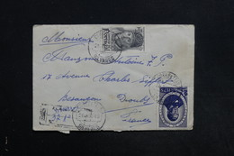 PORTUGAL - Enveloppe En Recommandé Pour La France En 1945 , Affranchissement Plaisant - L 31312 - 1910-... République