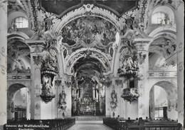 EINSIEDELN -(SVIZZERA) - INTERNO DEL DUOMO - VIAGGIATA DA EPPSTEIN 1965 FRANCOBOLLO ASPORTATO - Chiese E Conventi