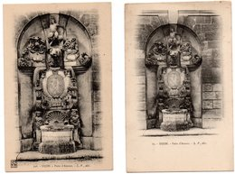 2 Cartes * COTE D'OR * DIJON * PUITS D'AMOUR * L.V. édit. 72 & 546 - Dijon