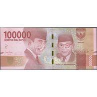 TWN - INDONESIA 160c - 100000 100.000 Rupiah 2016/2018 Various Prefixes UNC - Indonesia